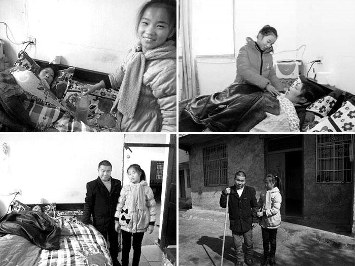 【11岁的陈淋溪照顾妈妈爸爸,虽然辛苦但也幸福!】