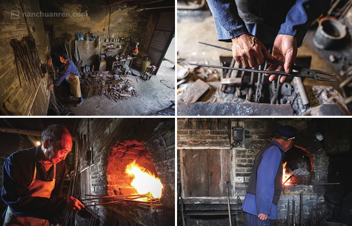"""【每天周廷木独自一人在铁匠铺里忙活。摆出已经打好的农具,拾掇拾掇陪伴多年的""""老伙计"""",点火生炉,一千多度的高温,不论寒暑……可因为生意不好,两个火炉早已关了其中一个,饶是农忙时节,今年他也就只卖出了一个钉耙。】"""